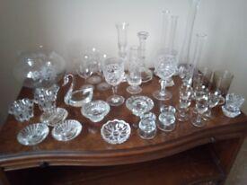 Various Items of Vintage Glassware