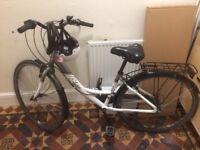 Bike with lock, lights & helmet