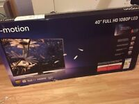 "e-motion 40"" Full HD 1080P LED TV (Less than 1 year old)"