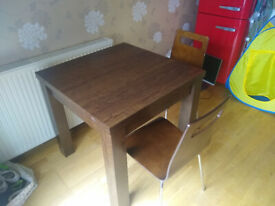 Extending dining table & 2 chairs - Next