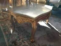French Table. Marble Top