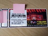 READING FESTIVAL WEEKEND TICKETS X 2 FOR SALE. SOLD OUT COST £427. WILL SELL FOR £410 FOR PAIR
