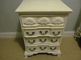 Shabby Chic Painted Bedside Chest of Drawers