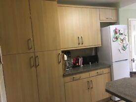 Great condition oak effect kitchen