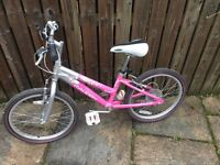 Girls Raleigh Krush Pink 16Inch Wheel Bike