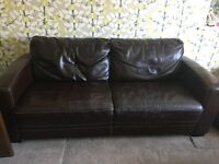 Leather sofa and sofa bed