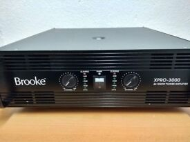 Brooke Professional Power Amplifier XPRO-3000 In Perfect Working Order & Excellent Condition