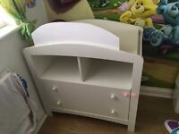 Mothercare Padstow Changing Unit- Porcelain White FREE DELIVERY IN LIVERPOOL