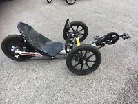 Variety of KMX Karts recumbent bikes