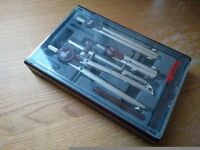 Vintage drawing tools | Architect/Design, Compass set, set square, templates | Rotring + Helix brand
