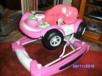 Pink Car Baby Walker / Rocker