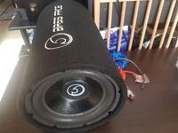 "Bassface BASS10.1 1100w 10"" Inch 26cm Car Subwoofer Sub Bass Box Tube Enclosure"
