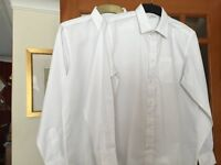 Boy's School Shirts, Pk x 2, Long Sleeved Age 13-14 years by Marks & Spencer