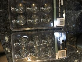 Bubbled glass furniture knobs x 12 - still available in Homebase if more required - buyer collect