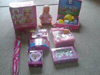 childrens barbie head peppa pig set princess umbrella clock porcelain tea set vtech camera baby doll
