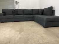 Grey dfs corner sofa, couch, suite, furniture 🚚🚛🚚