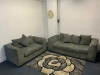 Grey corded sofas 3&2 delivery 🚚 sofa suite couch furniture