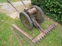 Allen Oxford Scythe Spares or repair engine turns no parts missing 2 spare blades