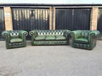 Chesterfield sofa and chairs (delivery available)