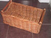 Log/storage basket, very sturdy.