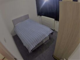 Double room close to the station (Monday to Friday at £75/week or full week at £110/week)