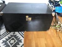 Large antique black box