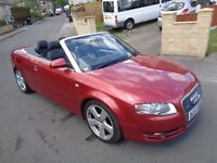 AUDI A4 2007 SLINE TDI 140 CONVERTABLE ***1 OWNER FROM NEW****