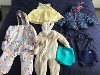 Baby toddler new or barely used clothes coats 9-12 months