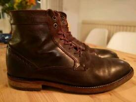Burgundy Peter Worth boots - 10.