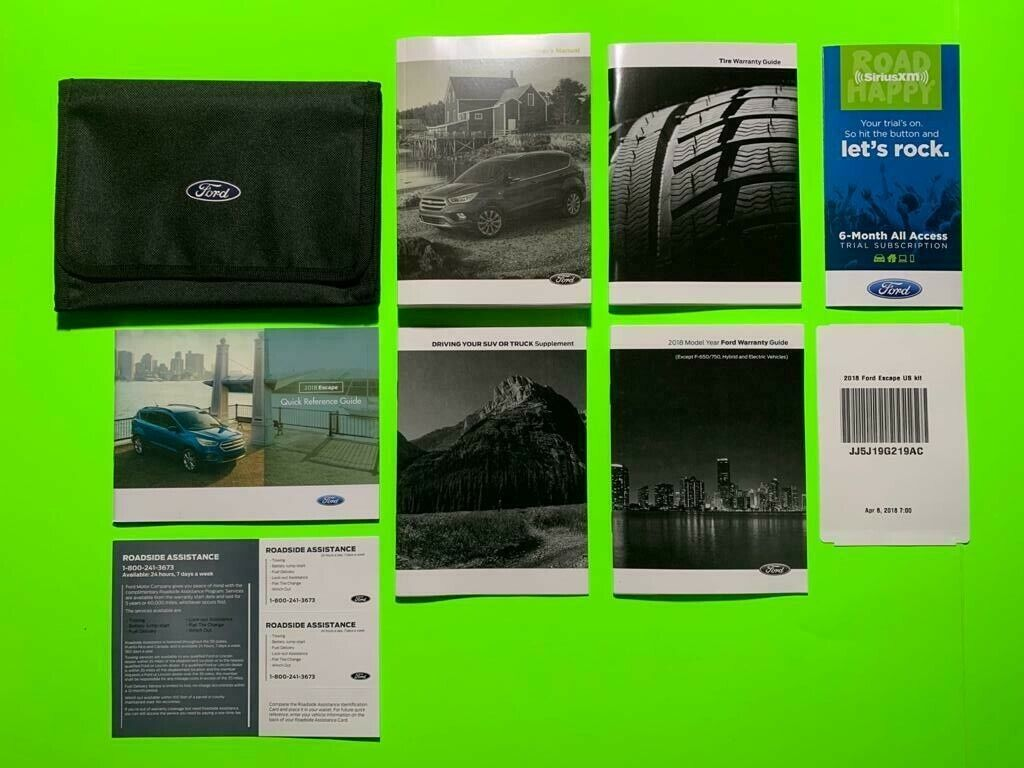 2017 Ford Escape Owners Manual Set Still In Original Manual Guide