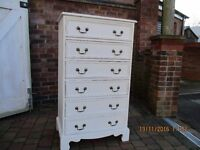 Solid pine chest of drawers.