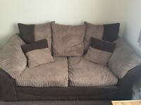 Two seater sofa and matching sofa bed