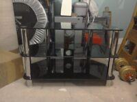 Glass TV stand measurements w80cm d45cm h53cm