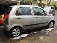 2009 Chevrolet Matiz SE+, silver ,very low mileage , spares or repairs