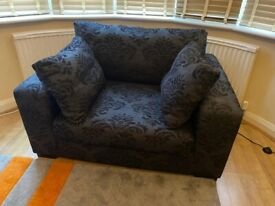 Black Love Seat - Large Single from NEXT
