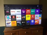 SAMSUNG 55 INCH 4K UHD SMART LED INTERNET TV WITH FREEVIEW HD BUILT IN.