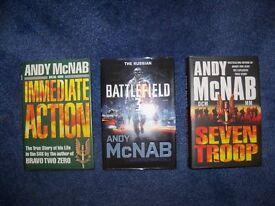 ANDY McNAB HARDBACK BOOKS