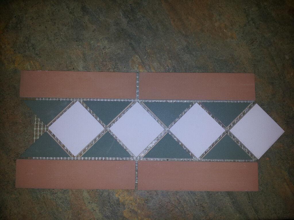 Job lot 44 metres unglazed victorian style floor tile border 15cm job lot 44 metres unglazed victorian style floor tile border 15cm x 305cm x 6mm dailygadgetfo Image collections