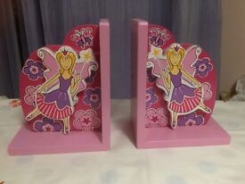 Wooden fairy bookends