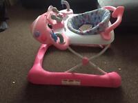 Pink mothercare aeroplane walker