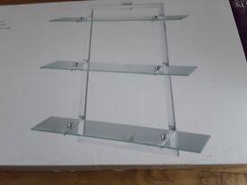 3 tier glass self