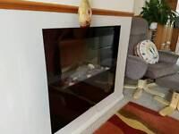 Decorative wall fan heater