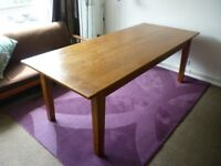 Solid Oak Dining Table (seats 8)