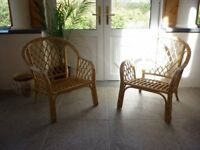 Conservatory Armchairs. Cane.. Used but good condition. Solid frames. No cushions.