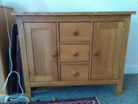 Solid oak drawers / cupboard