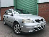 2002 (02) Vauxhall Astra 1.6i LS ESTATE OCTOBER MOT DRIVES GREAT 122,000 MILES