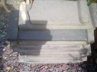 Clay hip and ridge tiles