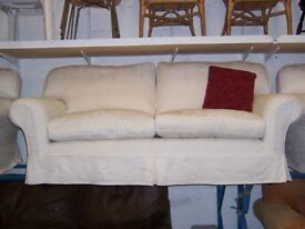 Cream 3 seater sofa at Cambridge Re-Use (cambridge reuse)
