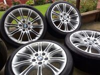 BMW MV2 18'' ALLOY WHEELS WITH MATCHING TYRES FOR ALL 3 SEREIS & Z MODELS