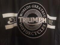 "TRIUMPH Men's Leather Motorcycle Jacket, Never worn, 46"" chest (Medium)"